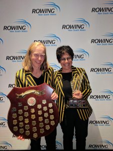 Anne Craig and Barbara Ramjan with the Para Shield
