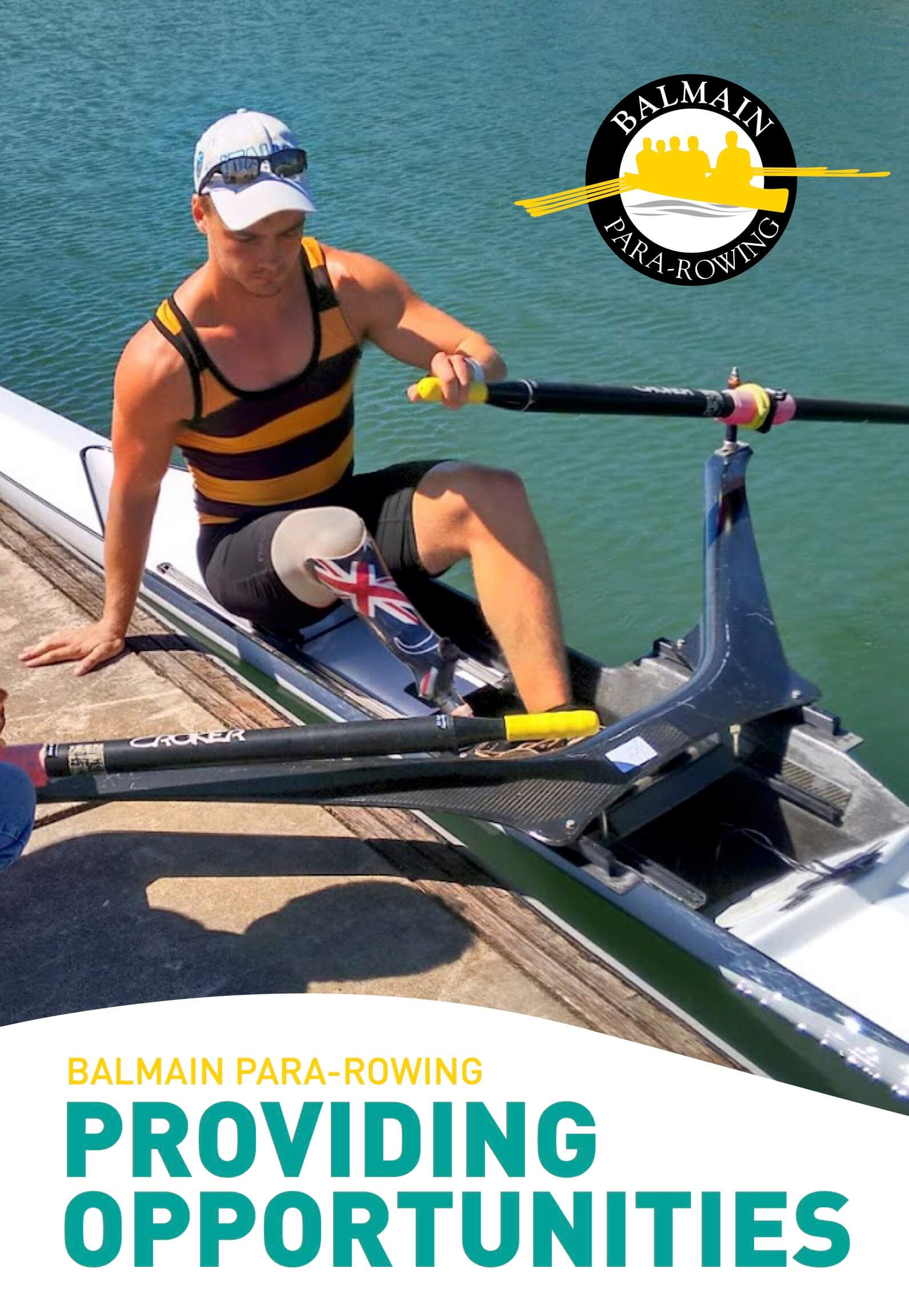 Para Rower in a Boat