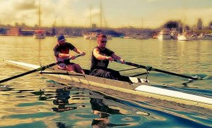 PR3 Para-Rowers Kevin and Jeremy training in a borrowed pair