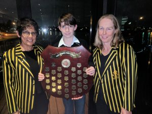 Barbara, Anne and Will with the Para Shield